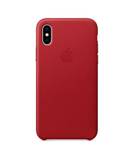 Чехол для iPhone Apple iPhone X Leather Case RED
